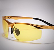 Sunglasses Men's Lightweight Wrap Silver / Gold Night Vision Goggles / Driving Half-Rim