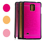 Kinston® Rainbow Two Lines Brushed Aluminium Pattern Hard Case for Samsung Galaxy Note 4 N9100 (Assorted Colors)