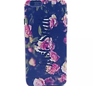 Pink Flowers Pattern PC Material Phone Case for iPhone 6