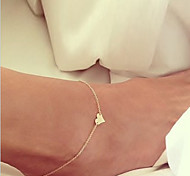 Fashion Monolayer Chain Heart Anklet