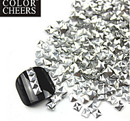 300PCS 3D Silver Square Alloy Nail Art Golden & Silver Schmuck