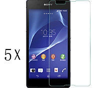 [5-Pack]Professional High Transparency LCD Crystal Clear Screen Protector with Cleaning Cloth for Sony Xperia E4
