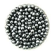 Beadia 100g(Approx 1000Pcs)  ABS Pearl Beads 6mm Round Gray Color Plastic Loose Beads For DIY Jewelry Making