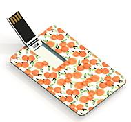 64gb tarjeta diseño anaranjado unidad flash usb