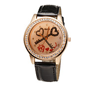 più nuove signore di modo dolce cuore 5 colori cristallo strass diamante guarda le donne abbigliamento casual quarzo orologio da polso