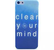 limpieza patrón mente pc esmerilada transparente de la contraportada para el iphone 5c