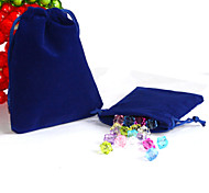Beadia 50Pcs  10x12cm Royal Blue Color Velvet Pouch Wedding Gift Bag Color Drawstring Jewelry Packaging