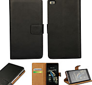 YMX-Light Surface PU Leather Full Body Wallet Protective Case with Stand and Card Slot for Huawei P8