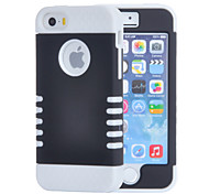 3 in 1 Silicon and Plastic Shock-proof Protector Case with Screen Protector for iPhone 5/5S