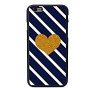 caso duro del diseño del corazón de oro para 5c iphone
