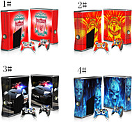 Decals Skin Sticker for Xbox360 Slim Console & 2 Controllers