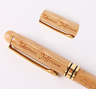 Personalized  Gift Pens Wooden Gold-plating Black Ink Gel Pen with Wooden Box Packing