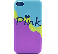rosa Milch Muster transparent gefrostet PC Schutzhülle für iPhone 4 / 4s