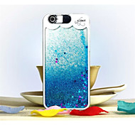 nuovo stile caldo di vendita colorato creativo 3d liquido sabbie mobili con i casi della copertura telefono cellulare stelle per 5s iphone