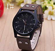 Men's  Watch New Casual Leather Calendar Belt Watch