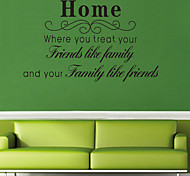Creative Home English Letters PVC Wall Sticker Wall Decals