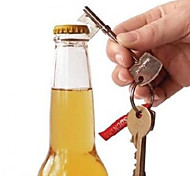Key Shaped Metal Beer Bottle Opener Ring Key Chain Key Ring
