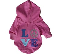 Cat / Dog Coat / Hoodie Pink Dog Clothes Summer Letter & Number Cosplay