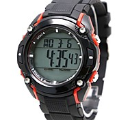 Men's Fashion Round Plastic Band Digital Watch