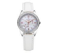 Women's Water-Resistant with Man-made Crystal Mother of Pearl Dial Fashion Watch of  Scorpio