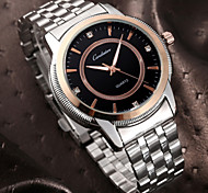 Couple's Simple Fashion Lovers Round dial Alloy Band Quartz waterproof Wrist Watch