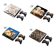 Skin Sticker Cover Decal For PS3 PlayStation 3 Slim + 2 Controllers Skins