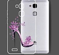 New Fashion 3D Beauty Flower Colorful Totem Tpu Cartoon Soft Case for Huawei Ascend Mate7