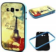 torre y patrón de la puesta de sol de plástico / tpu de 2 en 1 diseño caso de la contraportada para Samsung i9060 galaxy grand neo