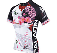 PaladinSport Women Short Sleeve Cycling Jersey New Style Plum DX542 100% Polyester