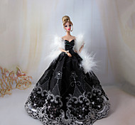 Princess Dresses For Barbie Doll White / Black Dresses
