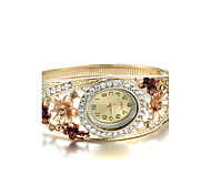 Sjewelry Lady Retro Bracelet Watch Atmospheric Diamond Flower Watch