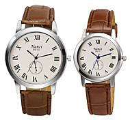 New Casual Roman Numeral Wristwatch Lovers' Watches Men Women Dress Watch Couple Quartz Watch For Lover's Gift