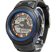 Men's Fashion Plastic Band Blue Digital Watch