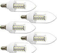 DAIWL 5PCS E14 5W(=Incan 40W) 42X5730SMD 350LM CRI>80 WarmWhite/White Light LED AC110V /220V