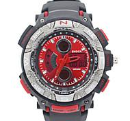 discagem rodada dupla zonas dos homens tempo quartzo relógio relógio de pulso de moda (cores sortidas)