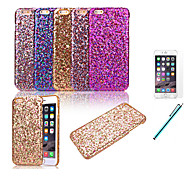 Glitter Powder Leather Coated Hard Back Cover for iPhone 6+Protective Film+Pen (Assorted Colors)