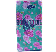 Birth To Death  Pattern PC Hard Case for Sony Xperia M2