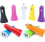Best Plus Dual-USB 1A / 2.1A Output Trumpet Shape Car Cigarette Power Charger