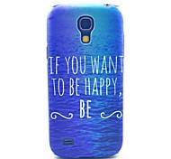 mar modelo feliz pc estuche rígido para mini i9190 de Samsung s4
