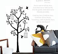 Cartoon Black Cat Tree Letters PVC Wall Sticker Wall Decals