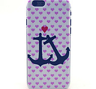 Pink Heart Spear Pattern Plastic Hard Cover for iPhone 6