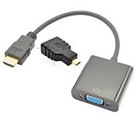 hdmi v1.3 para vga m f cable + / mujer hdmi al adaptador macho hdmi micro