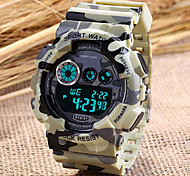 Men's Sport Watch Camouflage Military Design Digital Display Calendar/Chronograph/Alarm/Water Resistant Wrist Watch Cool Watch Unique Watch