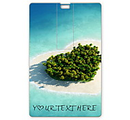 Personalized USB Flash Drive Heart Sea Design 8GB Card USB Flash Drive