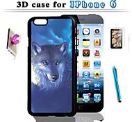3 г арт дизайн для защиты для Iphone 6 и сенсорным экраном ручка HD комбинации мембраны кронштейна