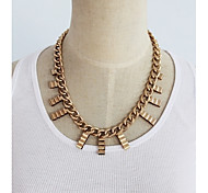 Vintage exaggerated Gold Chain Pendant Necklace