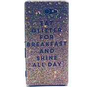 Gold Sparkle Pattern PC Hard Case for Sony Xperia M2
