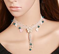 Women's Fashion Pearl Lace Choker Necklaces