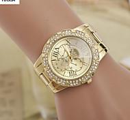 Mulheres Relógio de Moda Lega Banda Prata / Dourada marca-