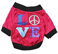 Cute Love Pattern 100% Cotton T-Shirt for Pets Dogs (Assorted Sizes)